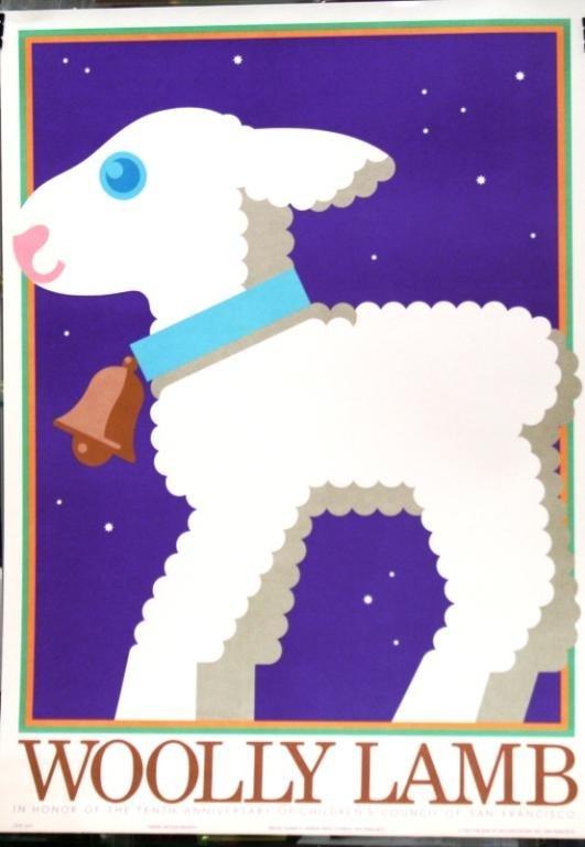 "Nicolas Sidjakov ""Woolly Lamb"" Children's Poster"
