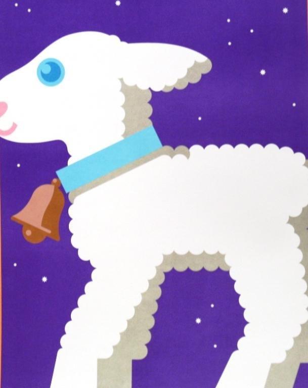 "Nicolas Sidjakov ""Woolly Lamb"" Children's Poster - 2"