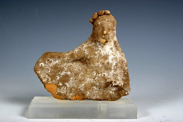 1: Ancient Archaic Greek Terracotta Reclining Figure