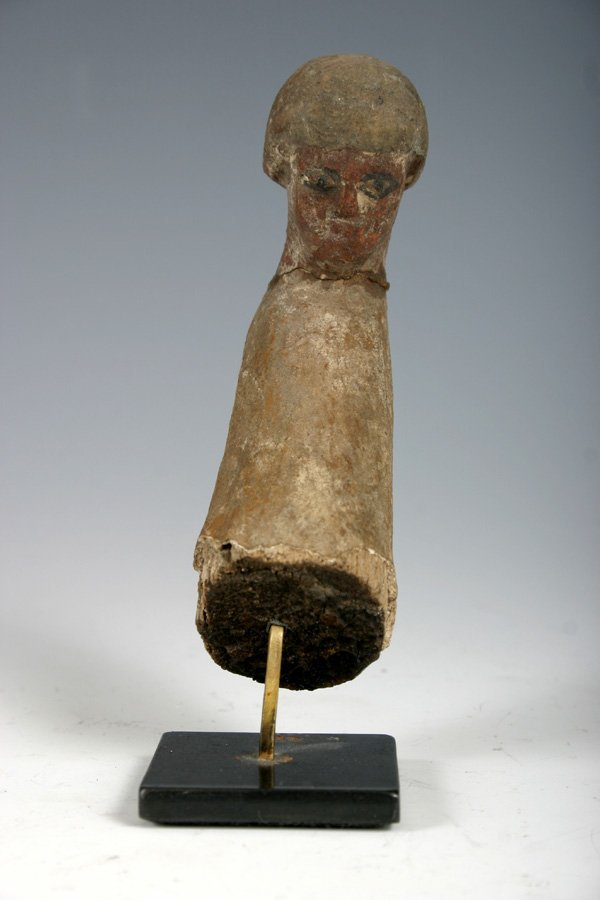 5: An Ancient Egyptian Painted Wood Fragment Figure