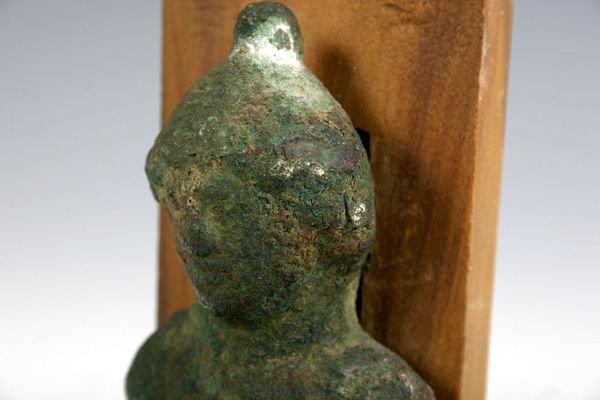 8: Roman Bronze Male bust Attachment