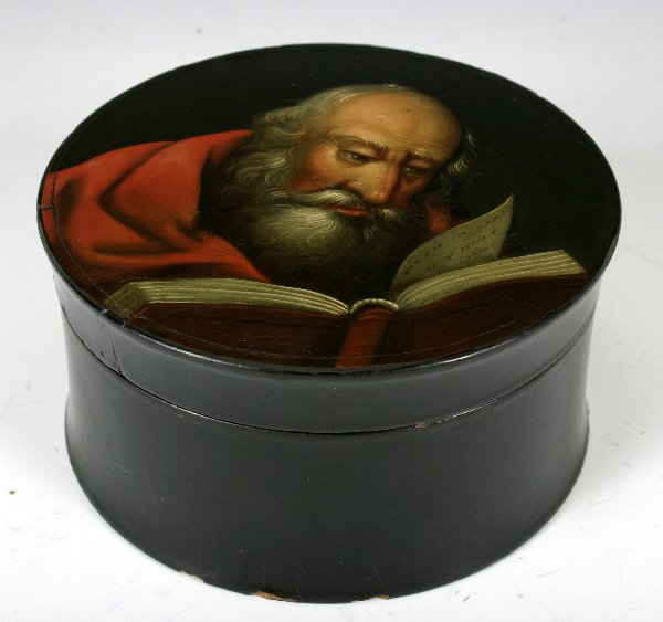 9: Early 19 C. Hand Painted Russian Lacquered Box