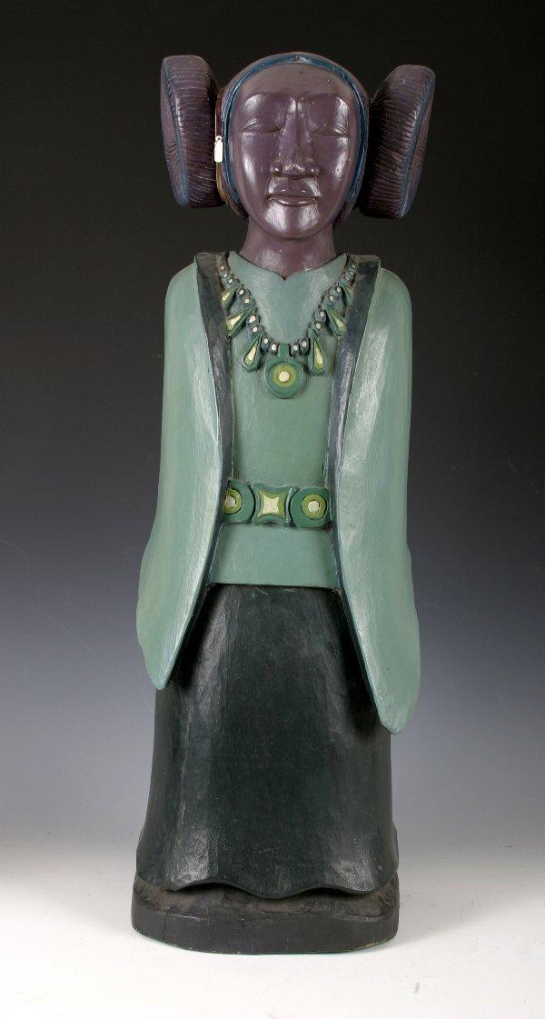 16: Large Hopi Figure of a Virgin