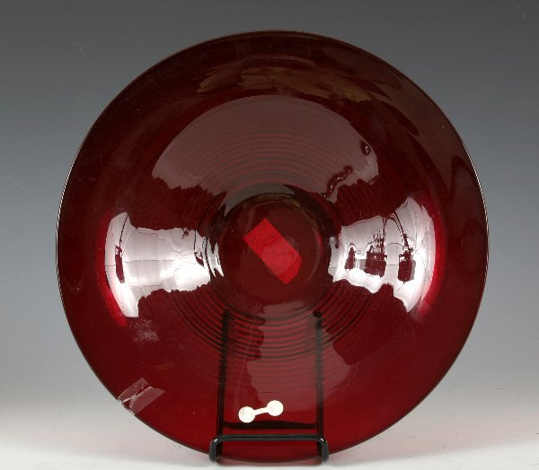 18: Large Ruby Glass Bowl