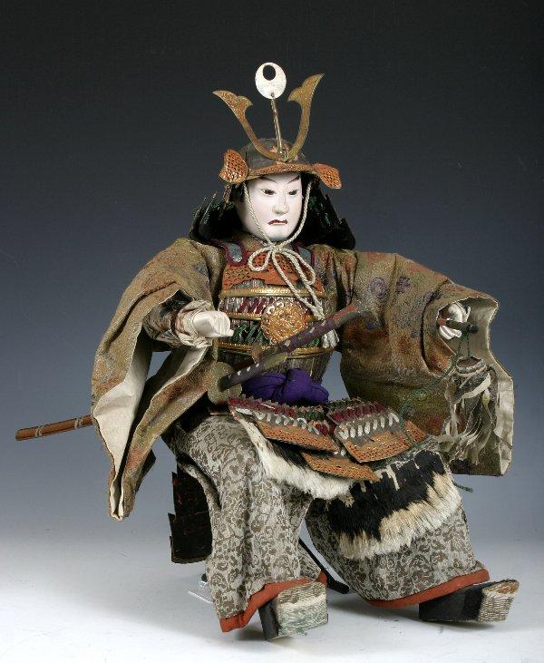 107: Edo period Japanese boys day Samurai Doll - 2