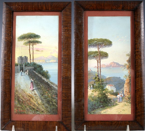 198: A late 19th century Italian watercolor painting