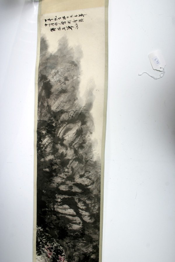 503: Chinese Hand Scroll Painted Landscape 20 C.