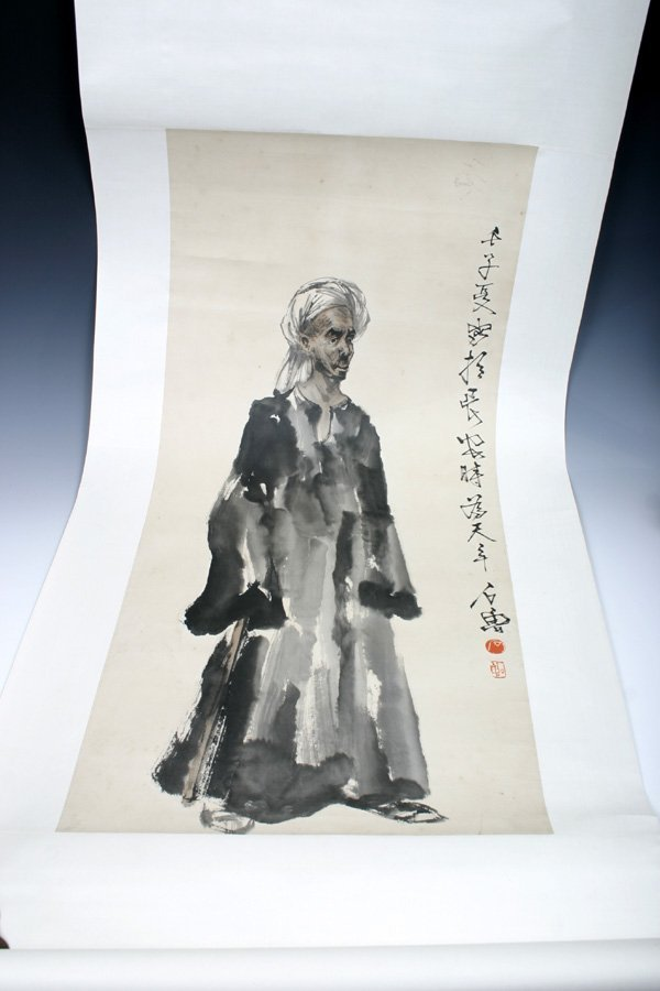 505: A chinese Scroll Painting of Figures, 20th C.