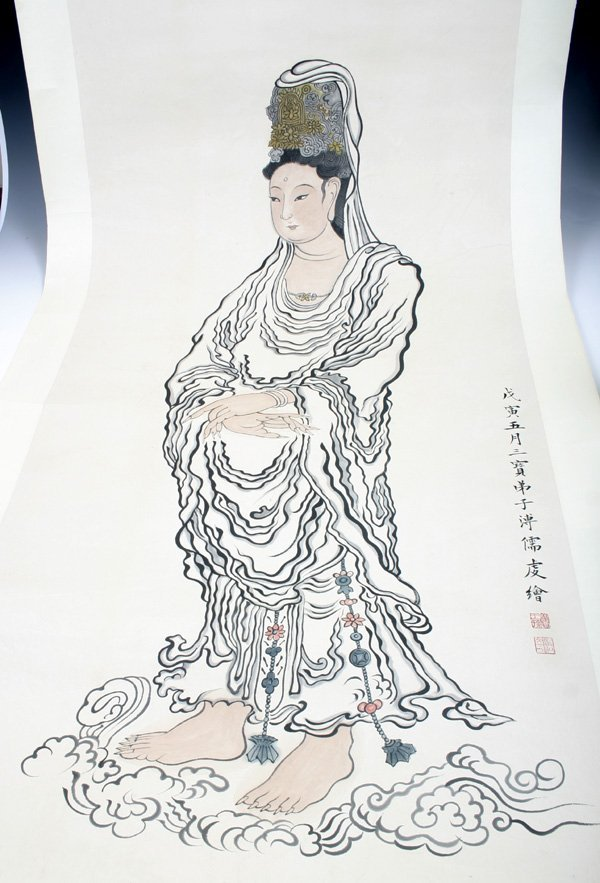 515: 20C. Chinese Scroll Painting of Buddha