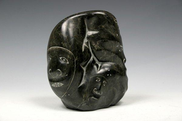 524: Early 20C. Eskimo Stone Totem Carving