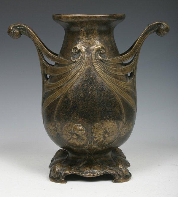 561: Rare Gorham Art Nouveau Silvered Bronze Urn c 1880