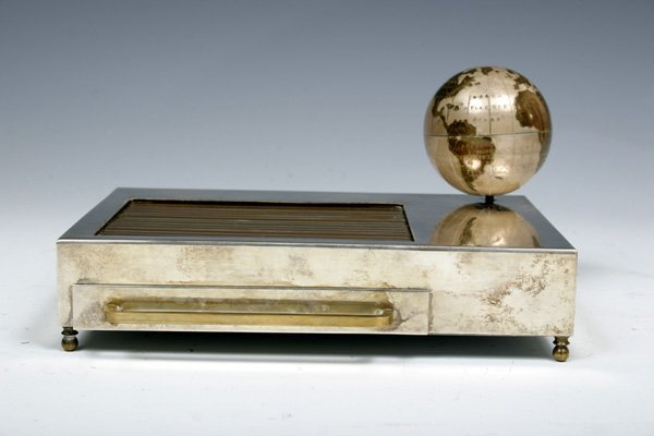 593: 1935 Vintage Musical Box Cigarette Dispenser with