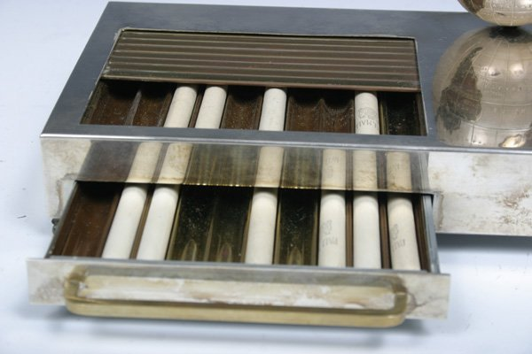 593: 1935 Vintage Musical Box Cigarette Dispenser with  - 4