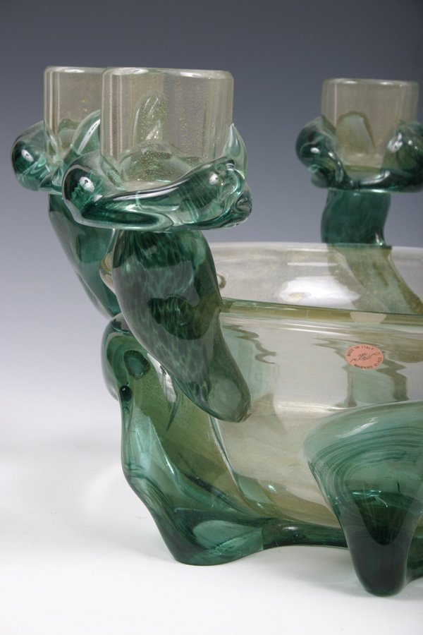631: Murano Art Glass Candelabra Centerpiece by Seguso  - 2