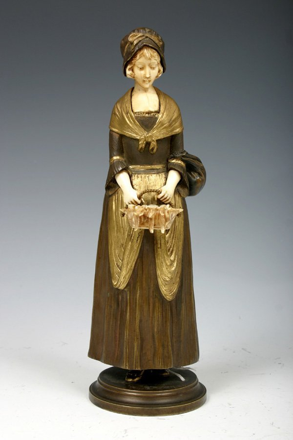 770: Original Cold Painted Bronze & Ivory Figure