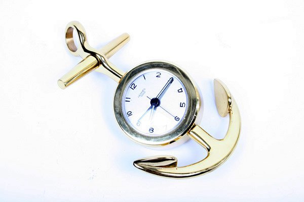 14A: Gold Hermes Nautical Hanging Clock