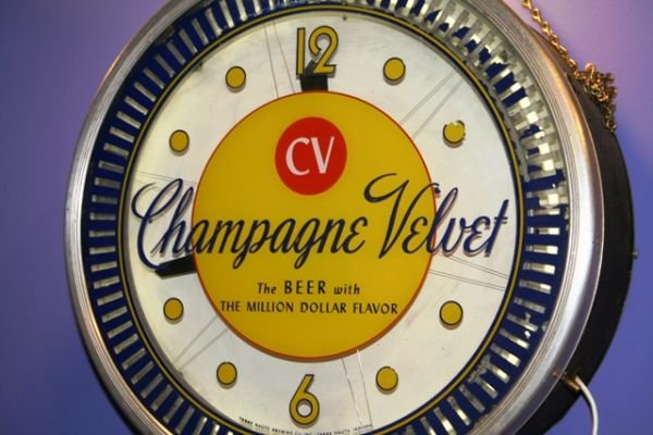 "120: Champagne Velvet Beer 18"" Commercial Clock Sign - 2"