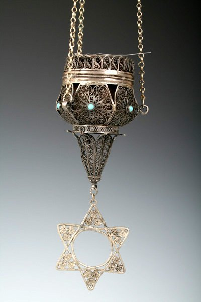 217: Early 20th C Middle Eastern Eternal Light -Judaica