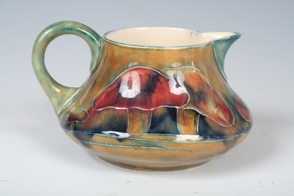 1001: Moorcroft Creamer with Clermont Pattern c. 1915