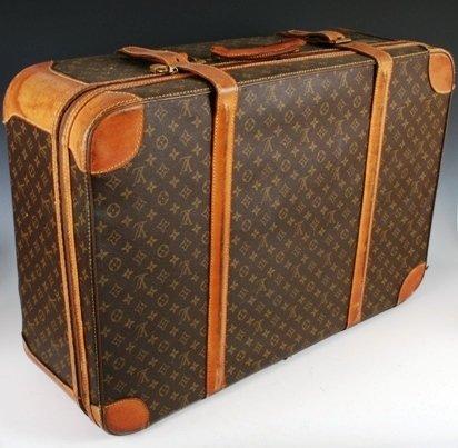 1011: Louis Vuitton Suitcase w/ Original Lock,  Zipper