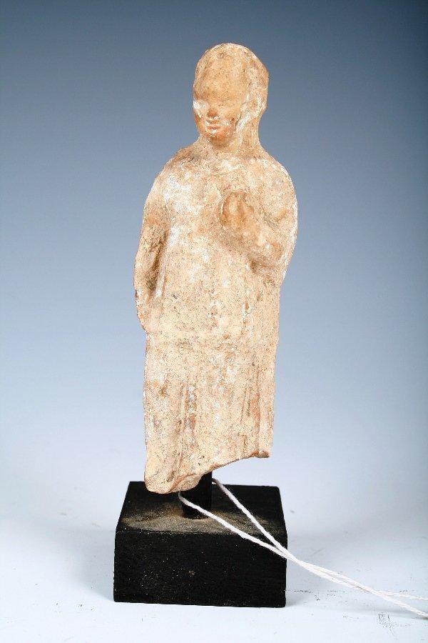 1021: Ancient Greek or Roman Terracotta Figure of a Mai