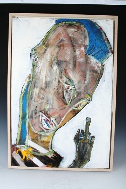 1221: Oil on Canvas by David Bowie 1993