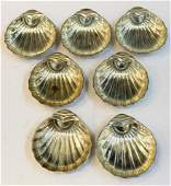 7 Rogers Sterling Silver Scallop-Form Nut Dishes