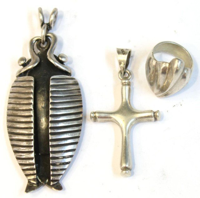 3 Mexican Sterling Silver Jewelry Articles