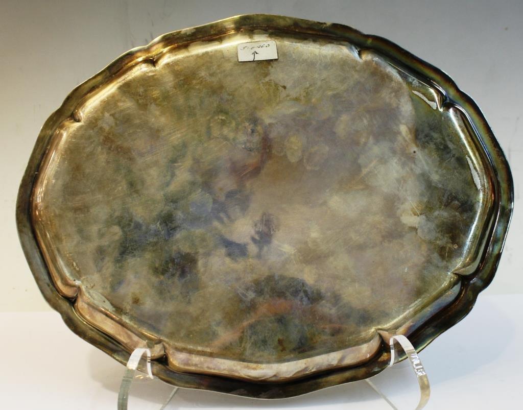Carl M. Cohr Danish Silver Oval Salver, 1938 - 2