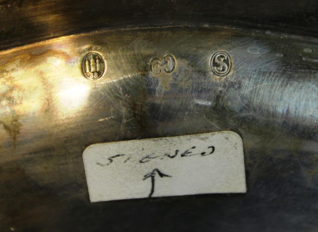 Carl M. Cohr Danish Silver Oval Salver, 1938 - 3
