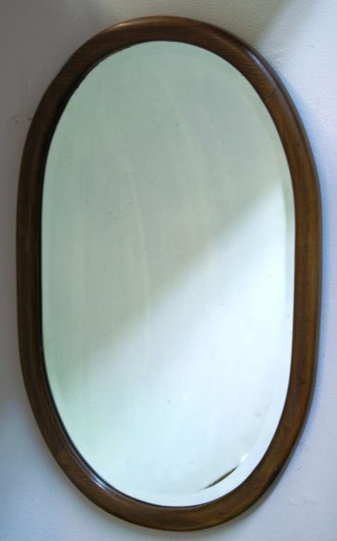 Vintage Oval Bentwood Mirror