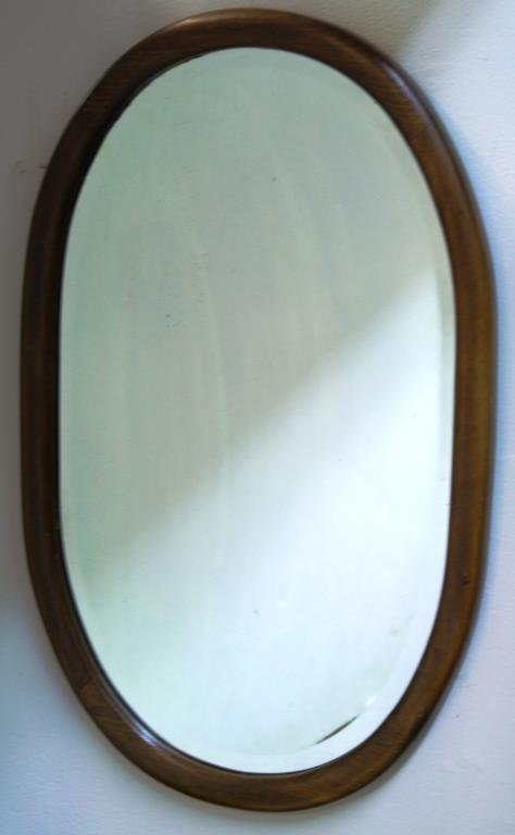 Vintage Oval Bentwood Mirror - 2