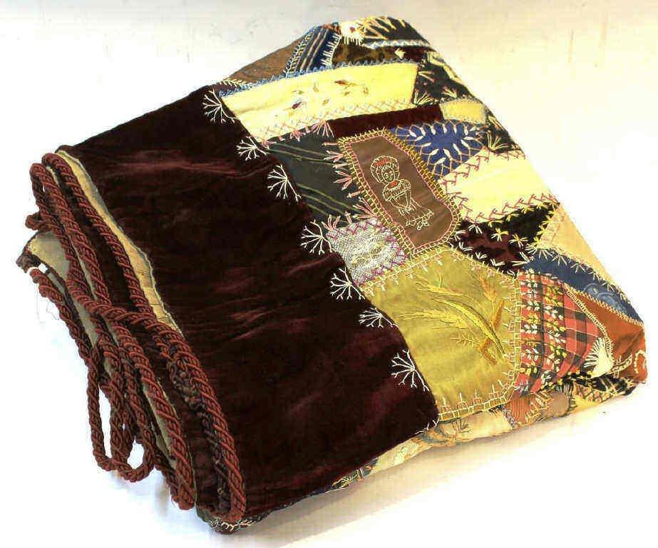 Victorian Crazy Quilt, Dated 1888 - 2
