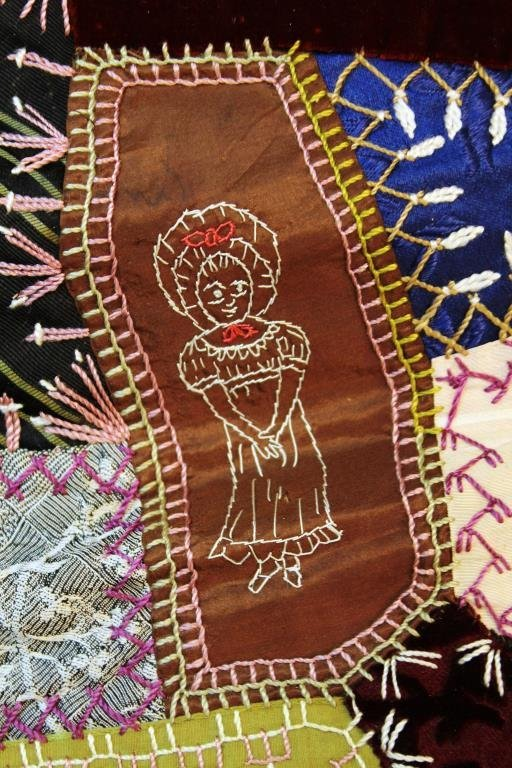 Victorian Crazy Quilt, Dated 1888 - 3