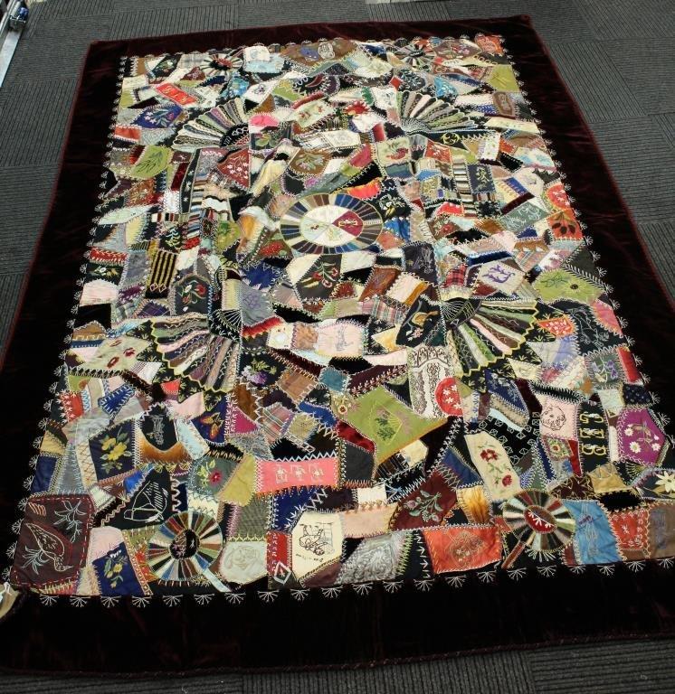 Victorian Crazy Quilt, Dated 1888 - 4