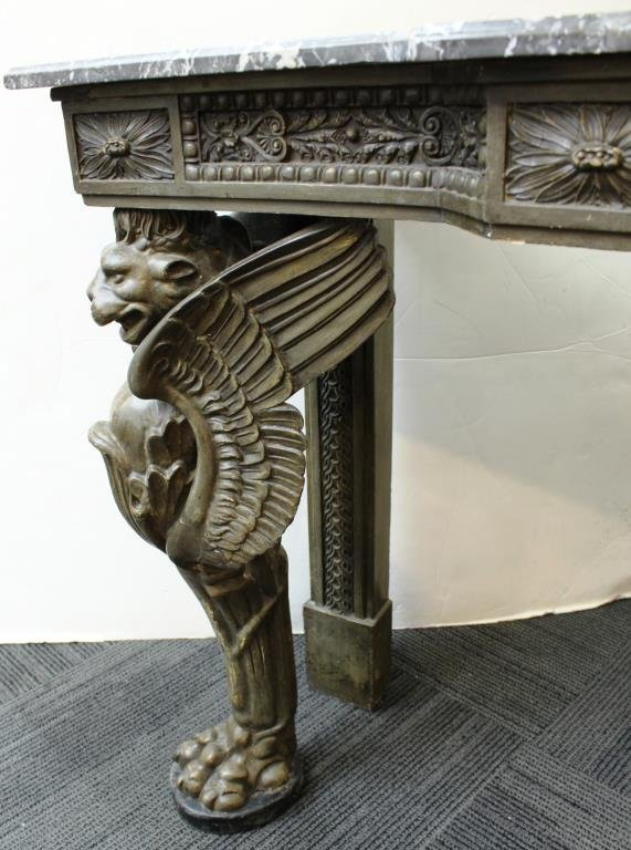 English Neo-Renaissance Style Marble-Top Buffet - 3