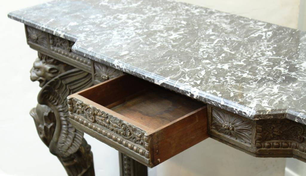 English Neo-Renaissance Style Marble-Top Buffet - 5