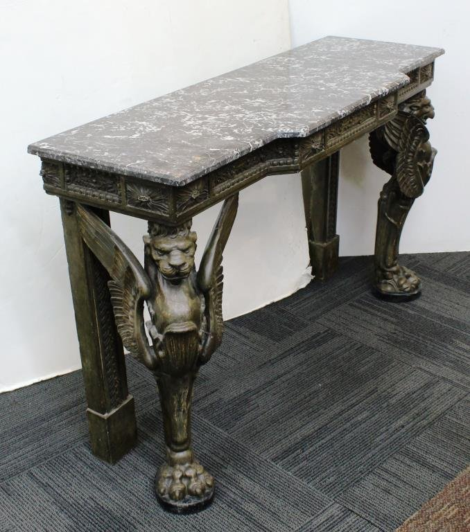 English Neo-Renaissance Style Marble-Top Buffet - 6