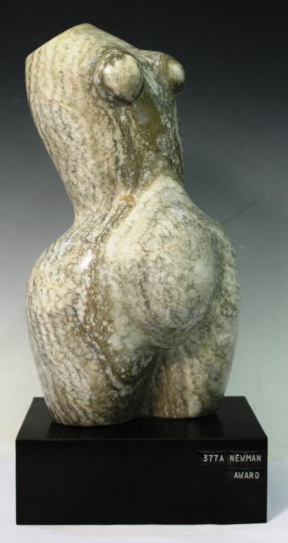 Contemporary Marble Torso of a Pregnant Woman