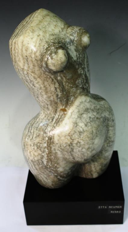 Contemporary Marble Torso of a Pregnant Woman - 2