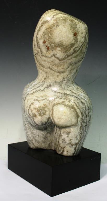 Contemporary Marble Torso of a Pregnant Woman - 3