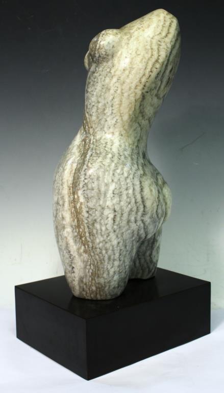 Contemporary Marble Torso of a Pregnant Woman - 4