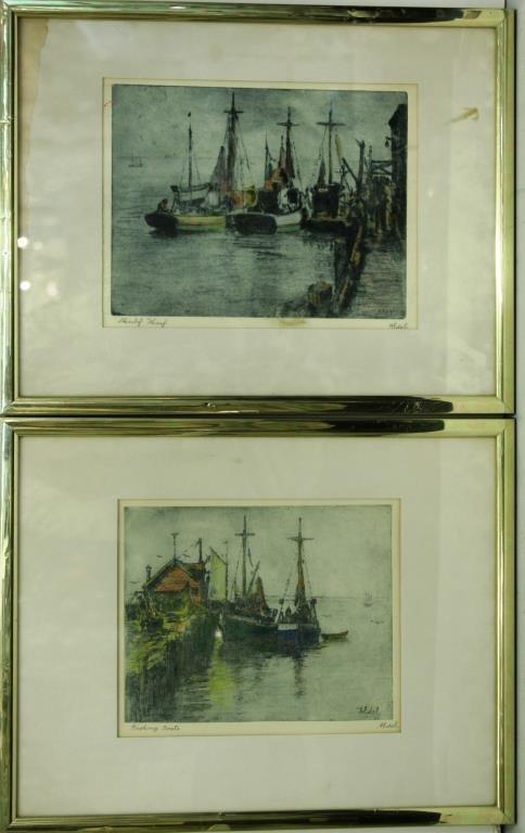 Albert Edel (American, 1894-1970)- 2 Etchings