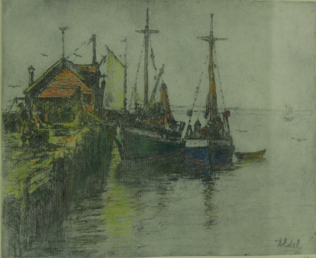 Albert Edel (American, 1894-1970)- 2 Etchings - 3