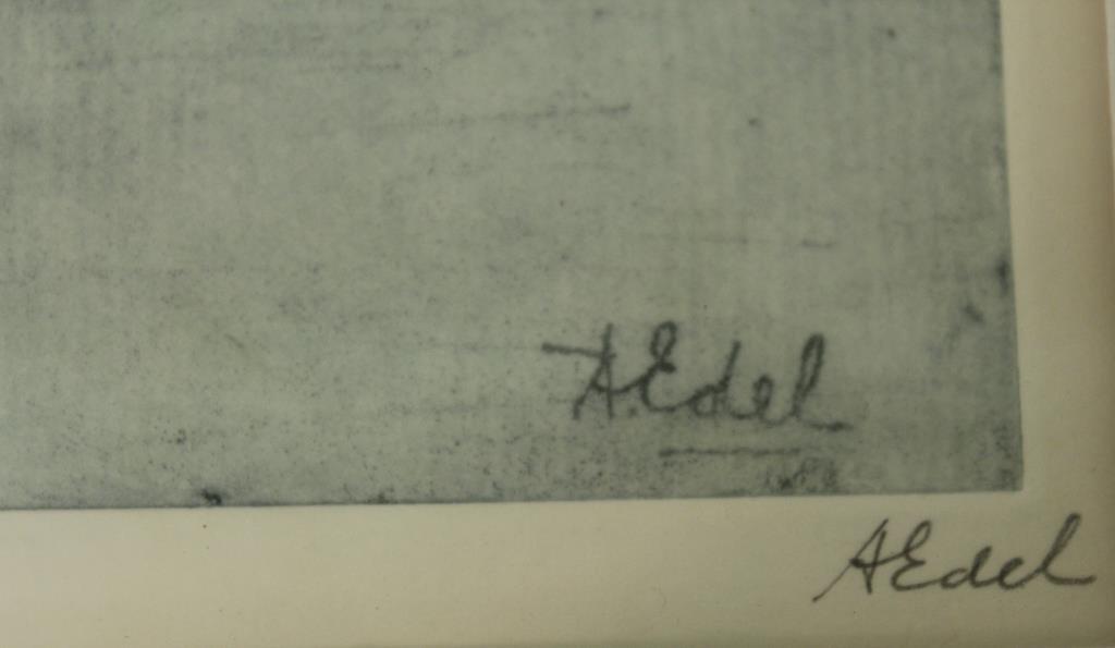 Albert Edel (American, 1894-1970)- 2 Etchings - 5