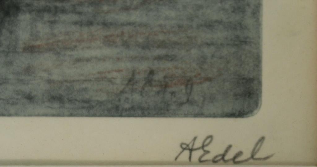 Albert Edel (American, 1894-1970)- 2 Etchings - 7
