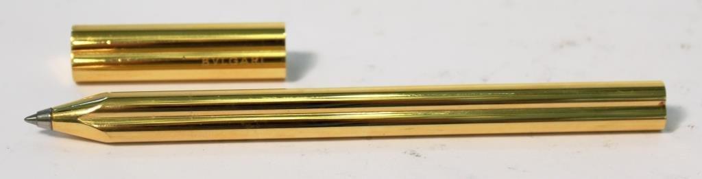 Bulgari Gold-Tone Trefoil Pen - 3