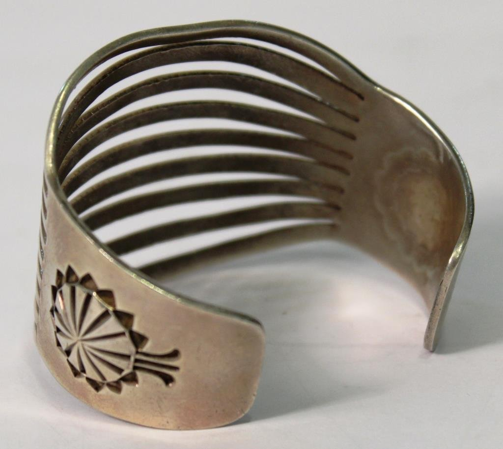 Larson L. Lee Navajo Sterling Cuff - 3