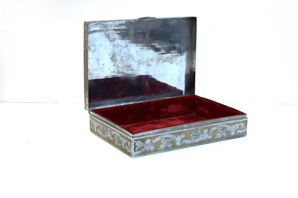 Indian Silver- and Gold-Tone Metal Box - 4