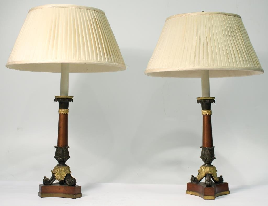 Pair of Small Neoclassical-Style Candle Holders